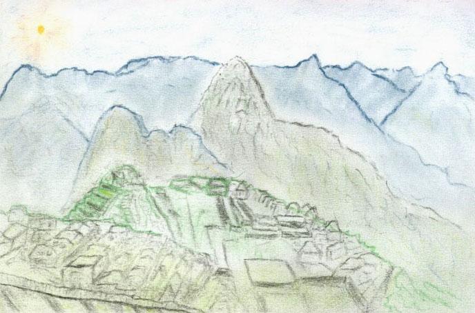 Andy's Machu Picchu sketch