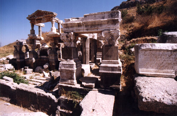 Entrance to the Temple of Hadrian