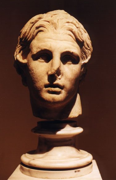 marble bust of Alexander the Great