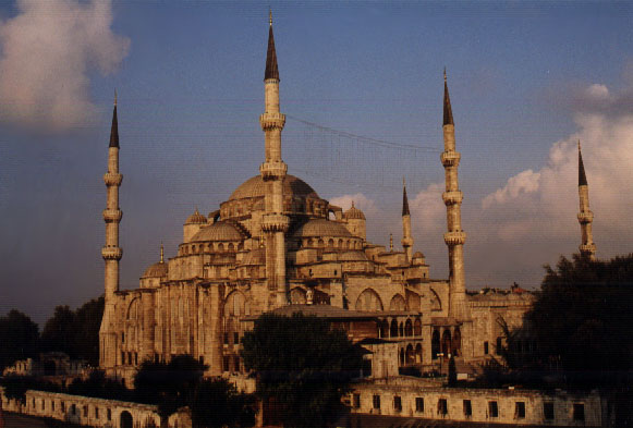 The Blue Mosque on a sunny day
