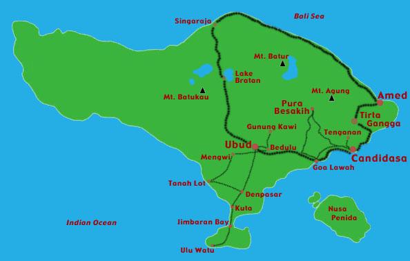 lake bratan bali map Susanne And Andy S Bali Itinerary lake bratan bali map
