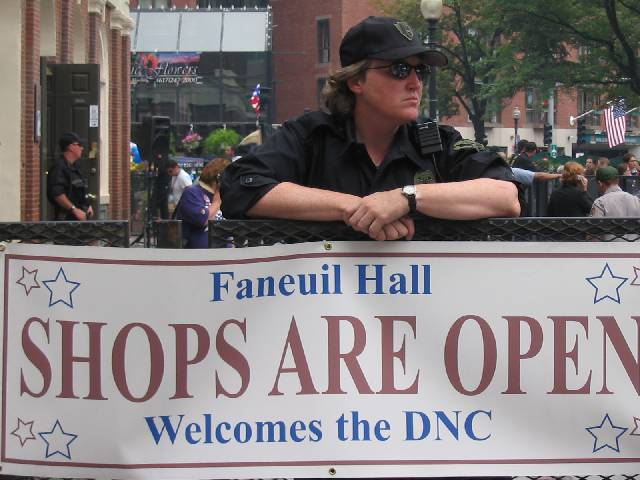 policewoman at Faneuil Hall